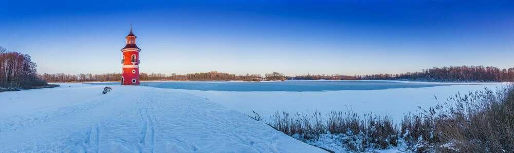 Winter am Leuchtturm Moritzburg /
