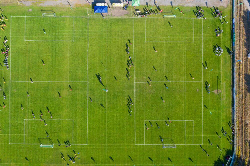 Fussballturnier / Drohnenaufnahmen Fussballturnier (Köster Fotografie)