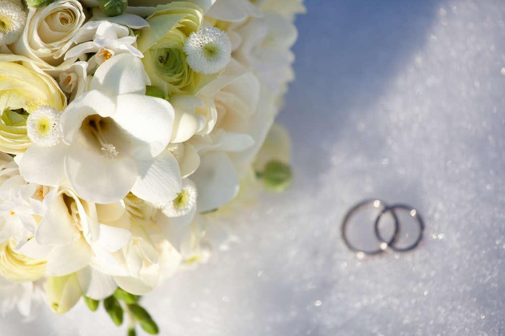 Hochzeit im Schnee / Hochzeitsfoto (photoresque Bilder, die man gerne zeigt - PhotographenMeisterin)