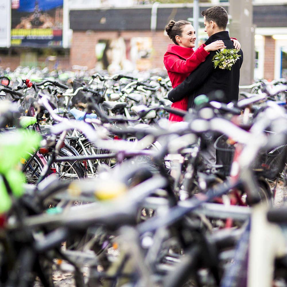 Winterhochzeit   Fahrräder in Münster (Lina Loos Fotografie)