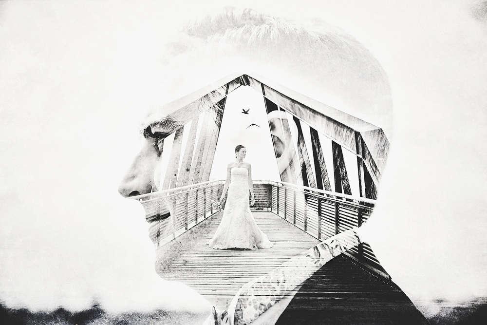 Brautpaarportrait kunstvoll (Frank Ullmer Hochzeitsfotografie)