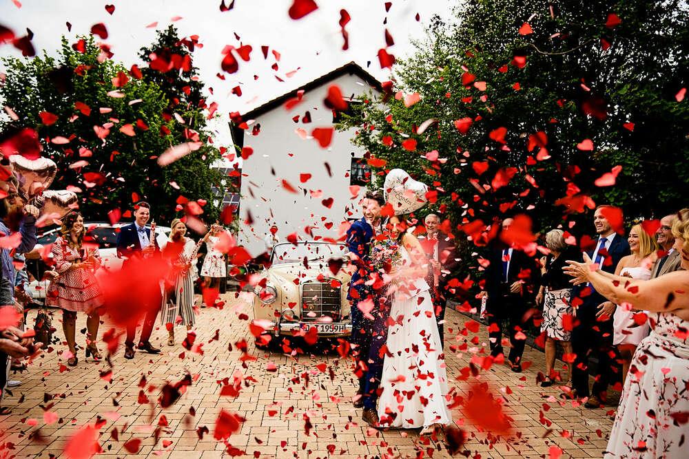 Hochzeit Konfettikanonen Solingen (Frank Ullmer Hochzeitsfotografie)