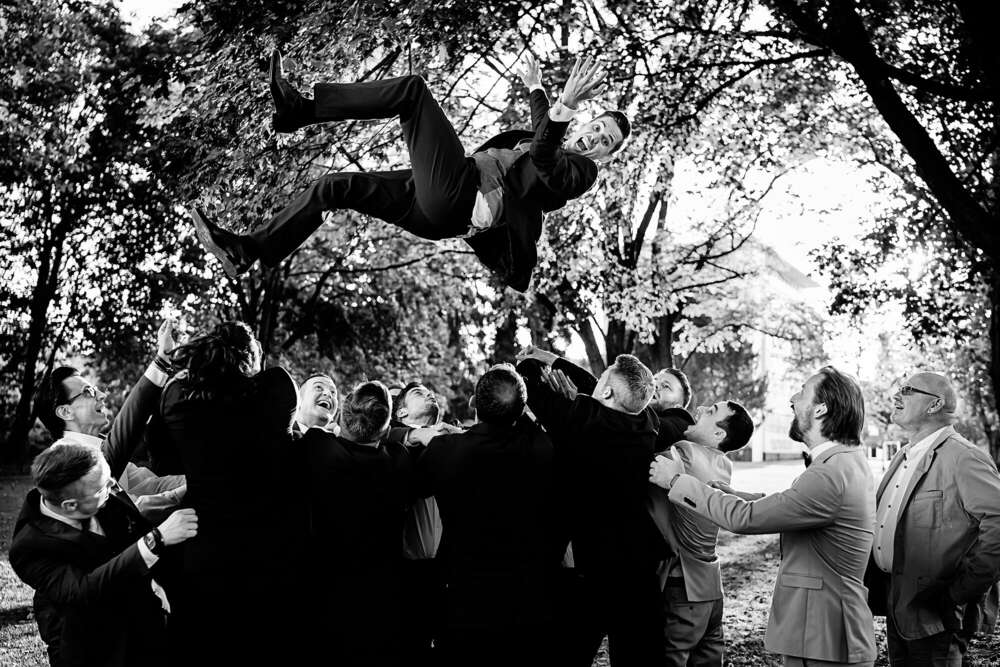 Hochzeit fliegender Bräutigam Solingen (Frank Ullmer Hochzeitsfotografie)