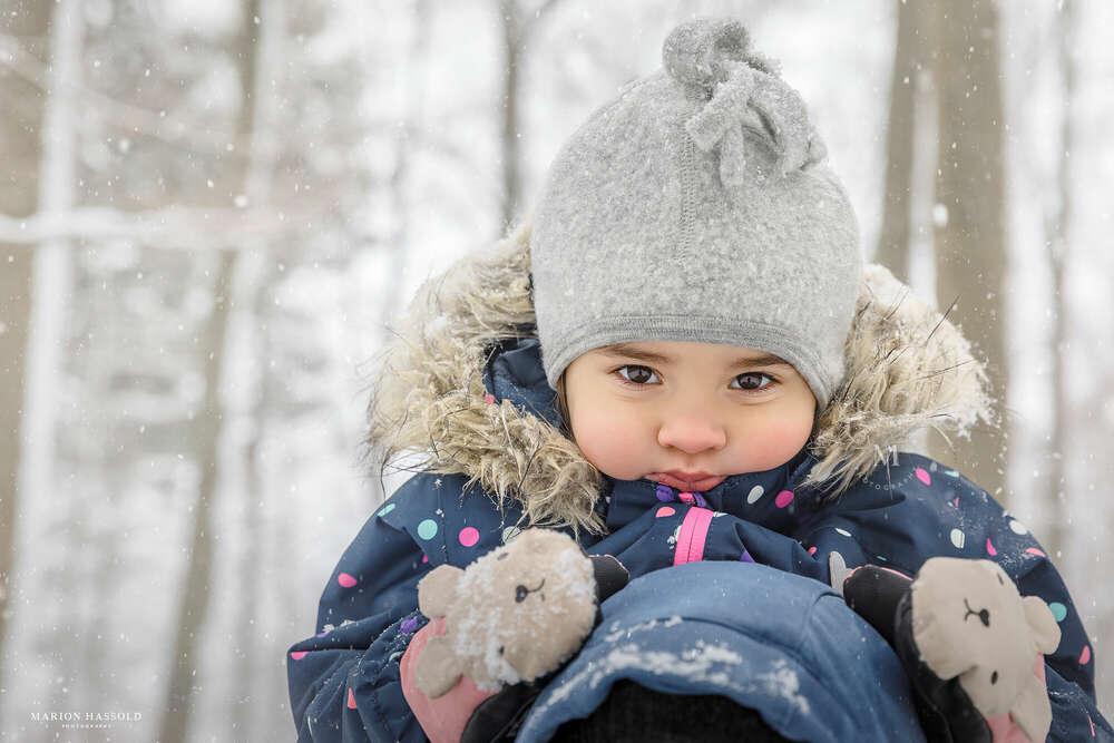 Gemischte Gefühle: der erste Schnee /