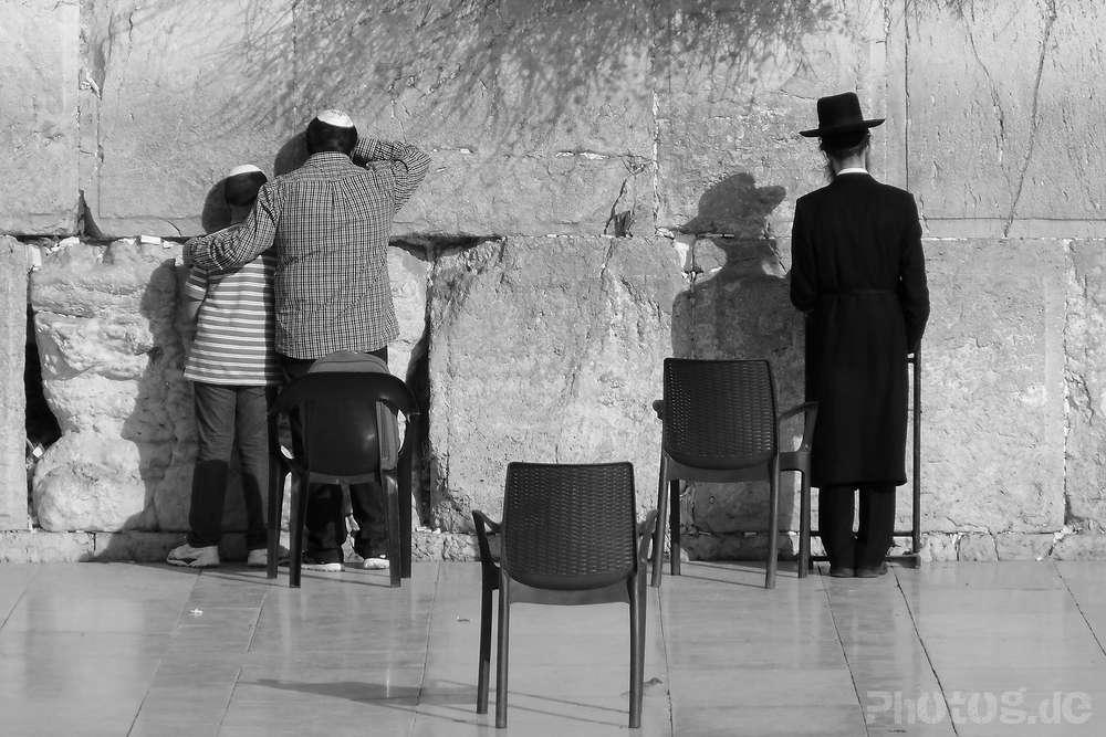 Gebet an der Westmauer, Jerusalem / Reportage (photog.de  -  Presse - Reportage - Workshops)