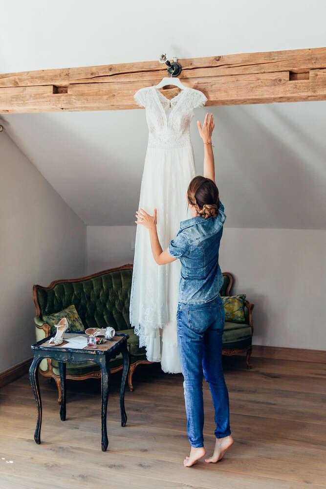 Weddingdress / Alte Gärtnerei Taufkirchen (Ines Rast Photography)