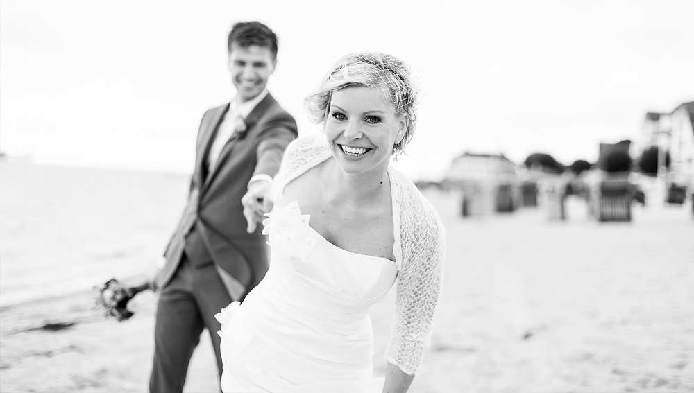 Hochzeit am Strand / Portrait