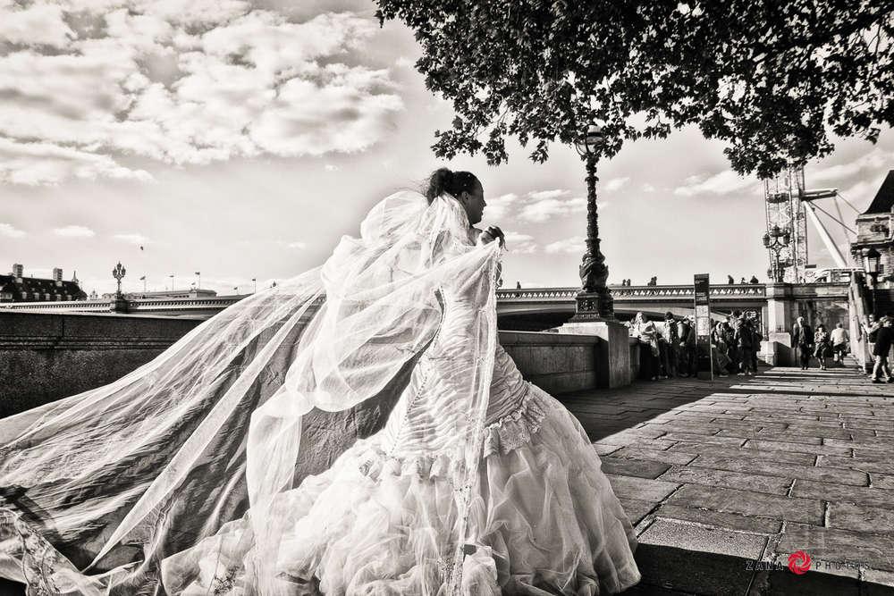 Hochzeitsfotograf-Braunschweig / Braut-mit-Schleier-im-Wind (ZANAPHOTOS)
