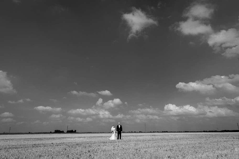 Hochzeitsfotograf-Braunschweig / Hochzeitspaar-auf-dem-weiten-Feld (ZANAPHOTOS)