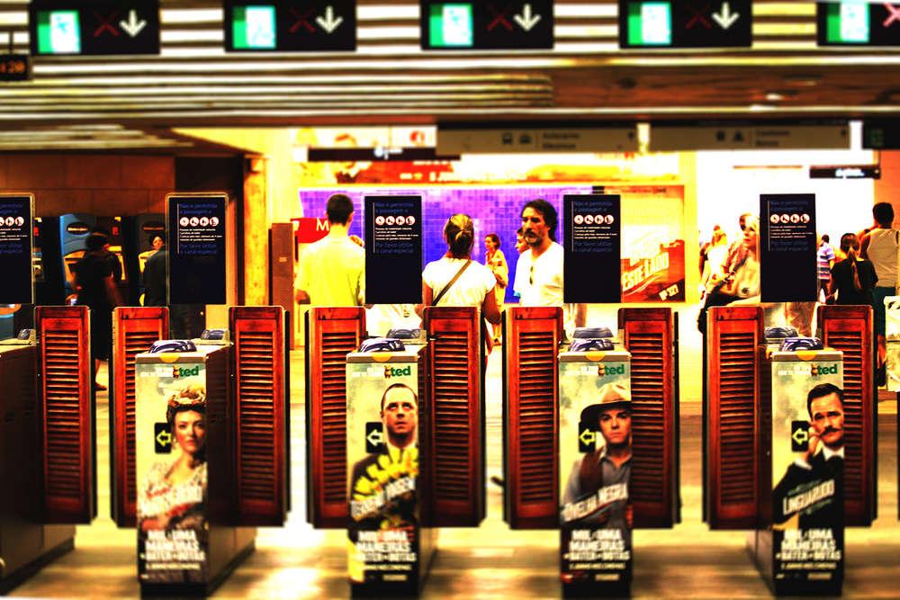 in the Metro (Fotografie Blickwinkel)