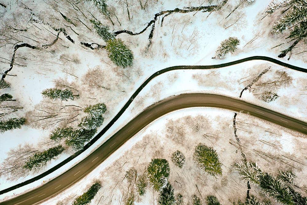 Winterlandschaft von oben (EE fotografie)