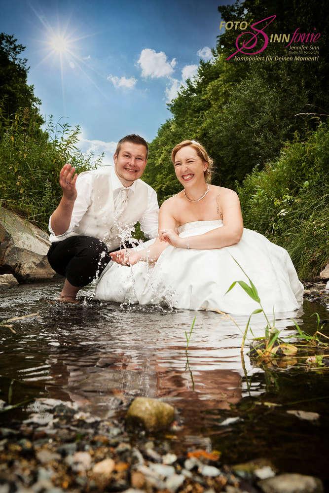 After Wedding / Hochzeitsfotos im Wasser (FotoSINNfonie)