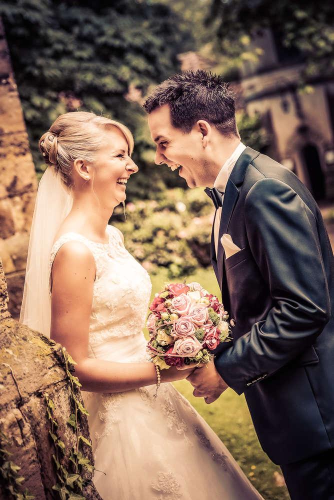 Glückliches Brautppar /