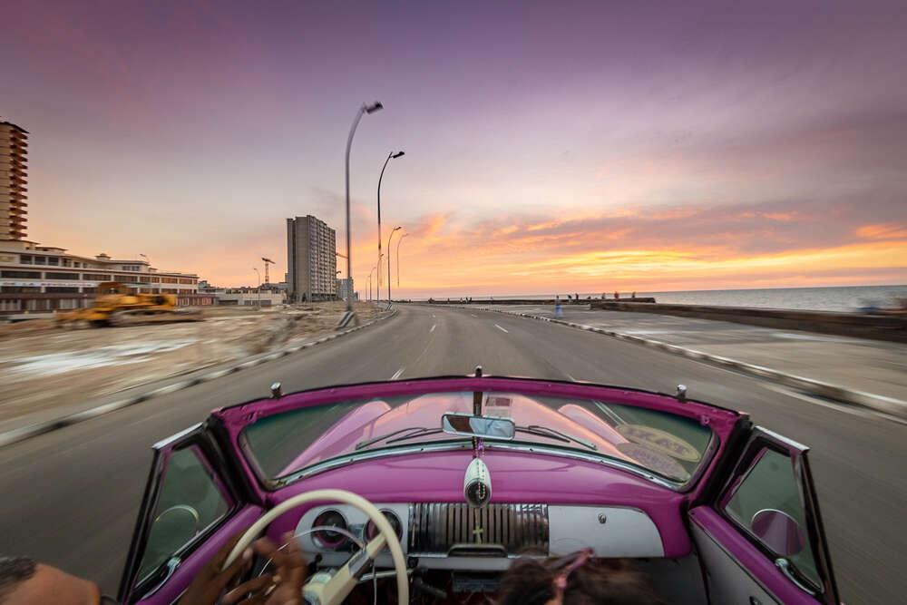 Oldtimerfahrt Havanna / aufgenommen am Malecon, Havana, Kuba (pix123 fotografie - portrait event panorama)