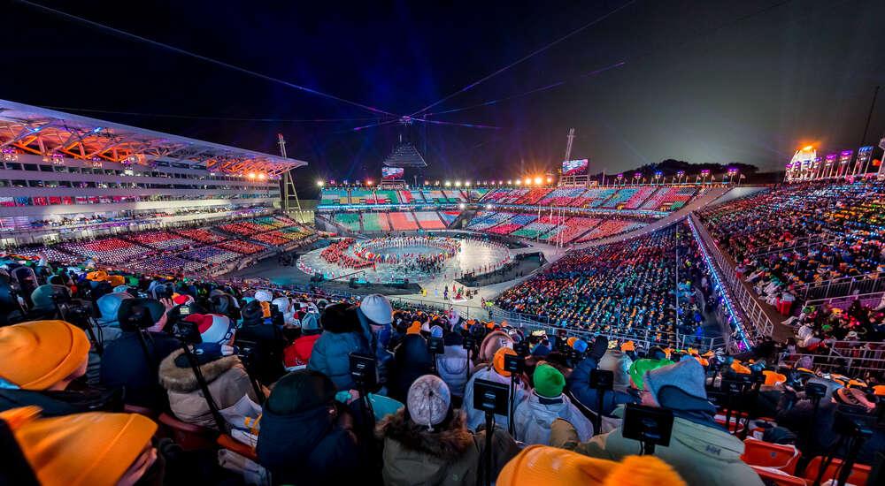 Abschlussfeier olympische Winterspiele / aufgenommen in Pyeongchang / Südkorea (pix123 fotografie - portrait event panorama)