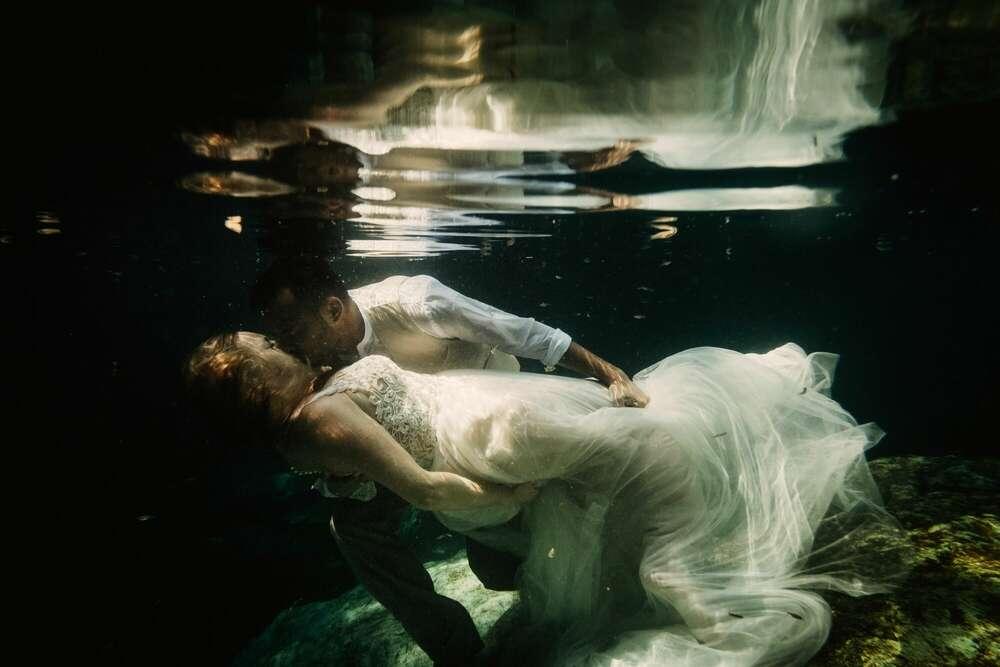 Unterwasser Hochzeitsbilder Mexiko (ROVA FineArt Wedding)