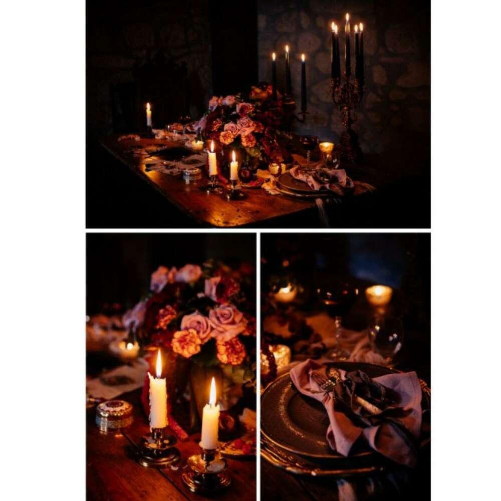 Moody wedding decoration (ROVA FineArt Wedding)
