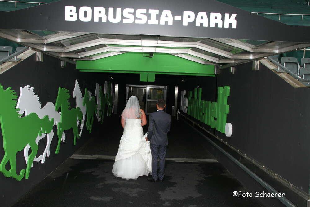 Im Stadion von Borussia Mönchengladbach (Fotografie Alex Schaerer)