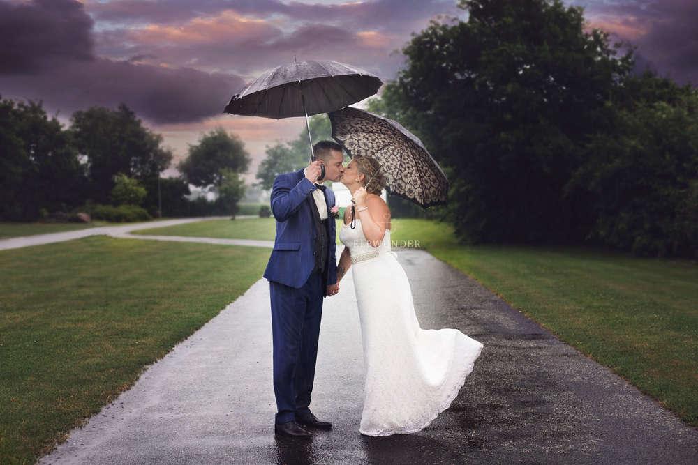 Regenhochzeit / Hochzeit im Hamburger Schietwedder