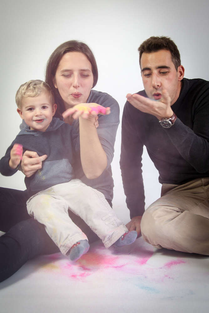 Familienportrait (lightpainting-fotografie)