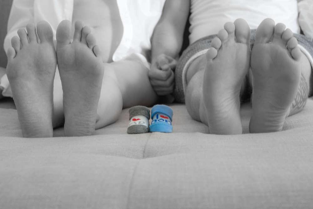 Babybauchfotografie (lightpainting-fotografie)