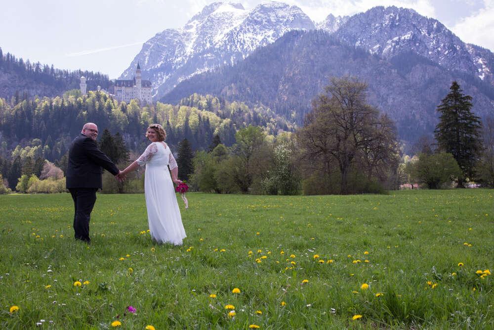 Hochzeitsfotografie / Hochzeitsreportage in Füssen (lightpainting-fotografie)