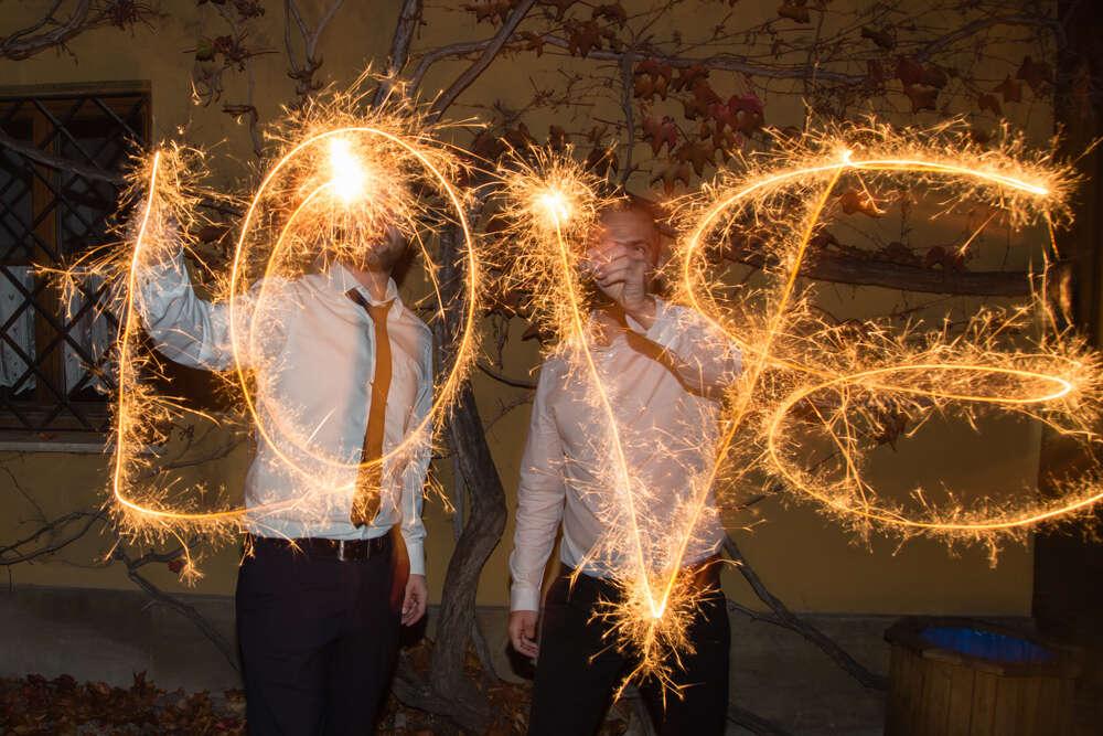 Hochzeit in Augsburg / Love is in the air (lightpainting-fotografie)