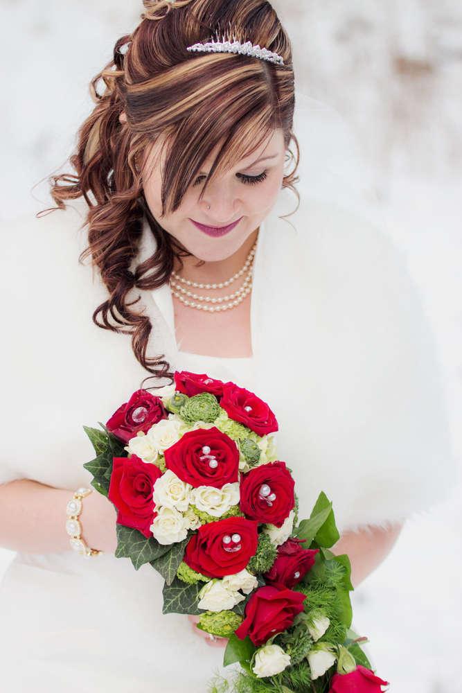 Braut im Winter / Winterhochzeit