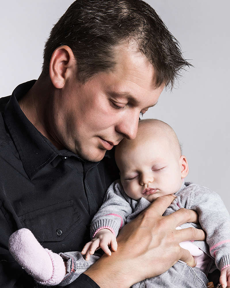 Papa mit Tochter (Fotostudio Boeltz)