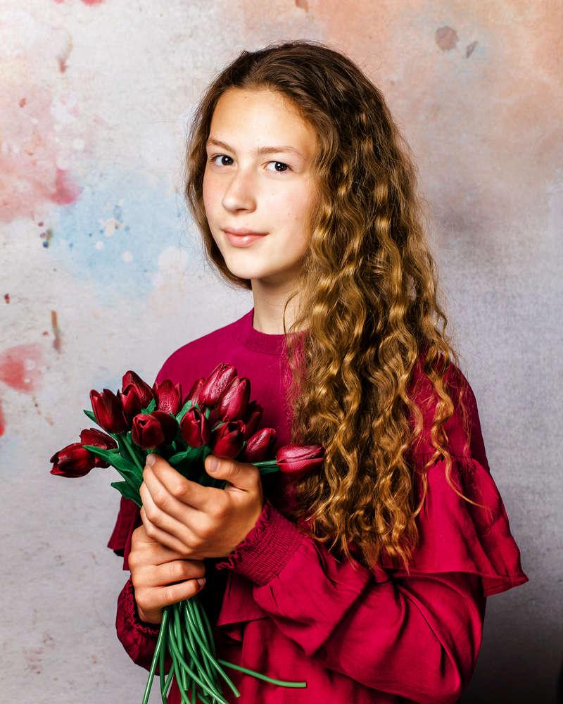 Flowerportrait / schönes Mädchenportrait (Fotostudio Boeltz)
