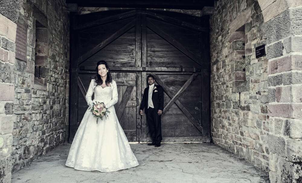 Brautpaar / Brautpaar, hochzeitsreportage, Portraits, Fotograf, Frankfurt (Christian Schmidt Fotografie)