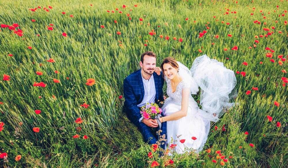 Brautpaarportrait / Brautportrait, Brautbild, Hochzeitsfotografie, Fotograf, Wehrheim, Frankfurt (Christian Schmidt Fotografie)