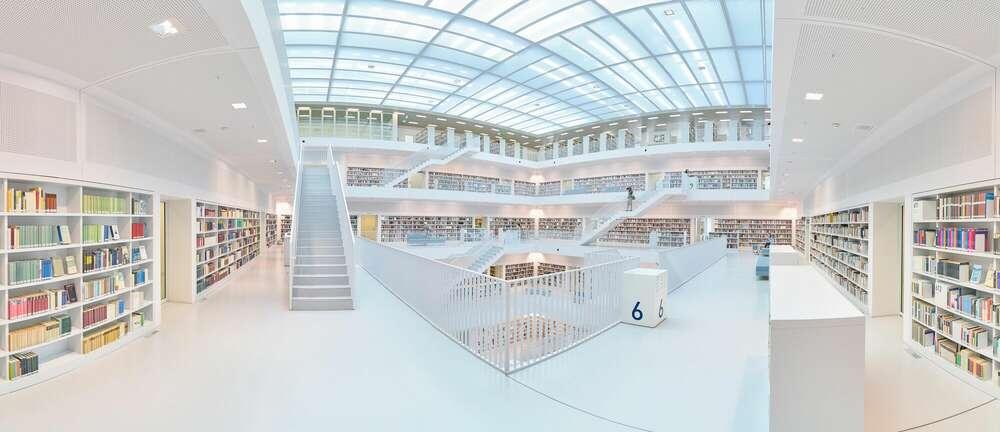 Bibliothek / Stuttgart (Roman Stöppler Fotografie)