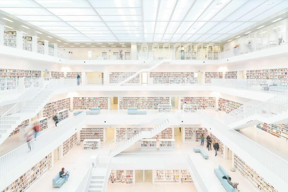 Bibliothek 4 / Stuttgart (Roman Stöppler Fotografie)